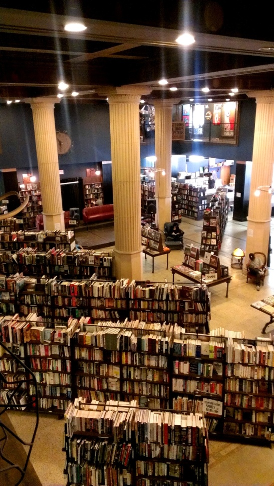 This doesn't even show half of the 16,000 square feet on bookshop.