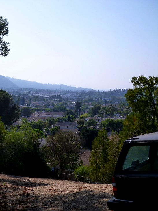 The view from in front of Aaron's house